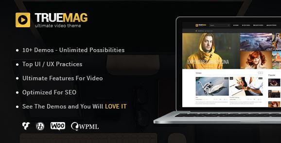 True Mag-用于视频和杂志的WordPress主题v4.3.6