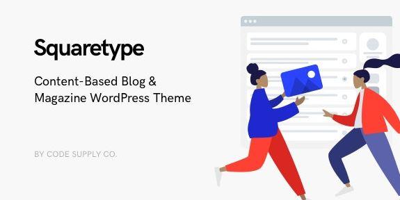 Squaretype-现代博客WordPress主题为空