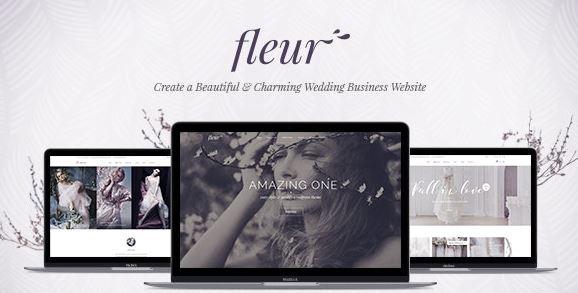 Fleur-婚礼WordPress主题主题