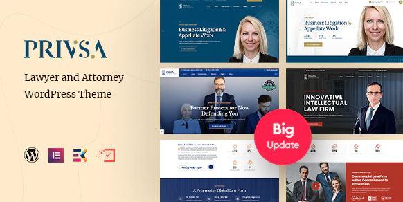 Privsa-律师和律师WordPress主题
