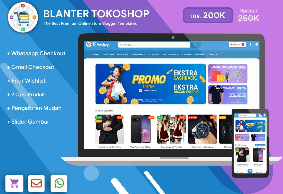 Blanter Tokoshop Blogger模板