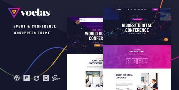 Voelas-活动和会议WordPress主题