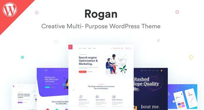 Rogan-代理,Saas,产品组合的创意多用途WordPress主题