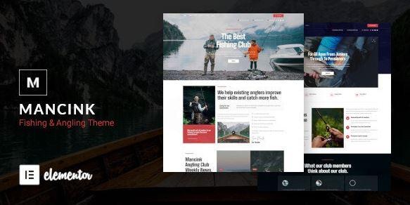 Mancink-钓鱼和钓鱼WordPress主题
