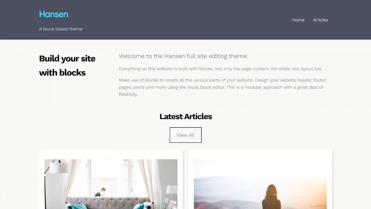 通过带有汉森主题的块模式构建一个完整的WordPress网站,通过具有汉森主题的块模式构建一个完整的WordPress网站