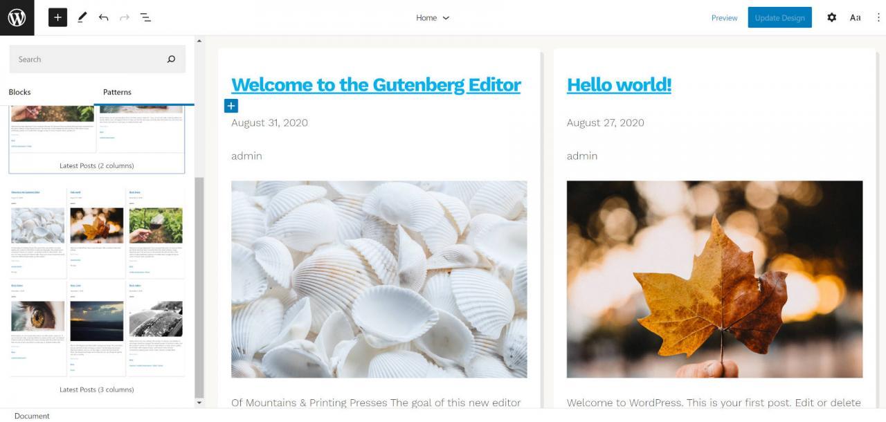 通过带有汉森主题2的块模式构建一个完整的WordPress网站,通过具有汉森主题的块模式构建一个完整的WordPress网站