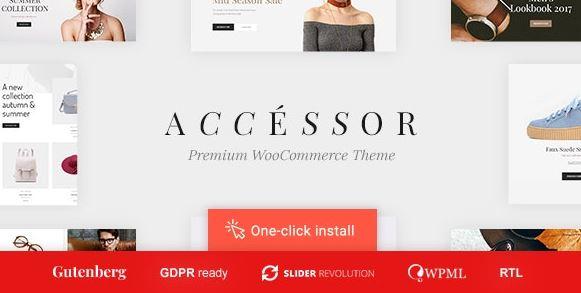 配件商店-在线商店,WooCommerce和购物WordPress主题