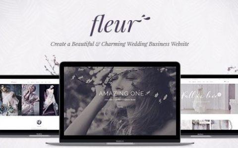 Fleur v2.0 –婚礼WordPress主题主题