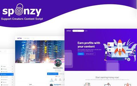 Sponzy v2.2 –支持创作者内容脚本