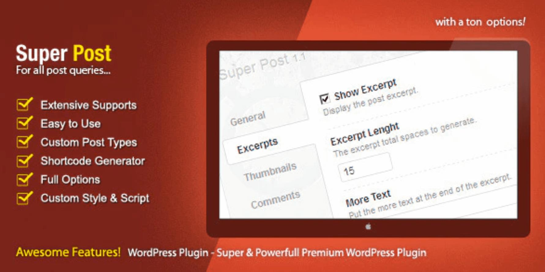 Super Post插件是WordPress受欢迎的post插件。