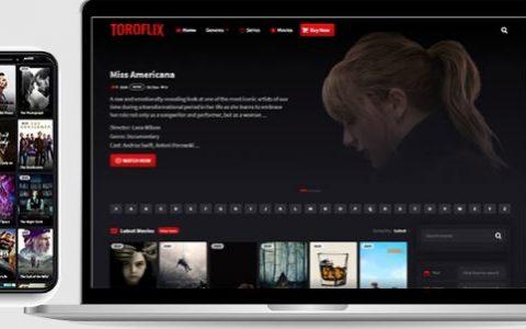 Toroflix WordPress主题–使用DBMovies Importer的电影和电视剧