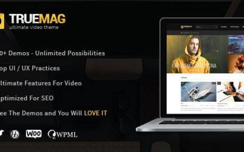 True Mag –视频和杂志的WordPress主题v4.3.6
