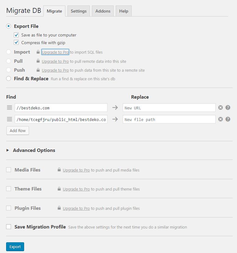 WP-Migrate-DB-Admin