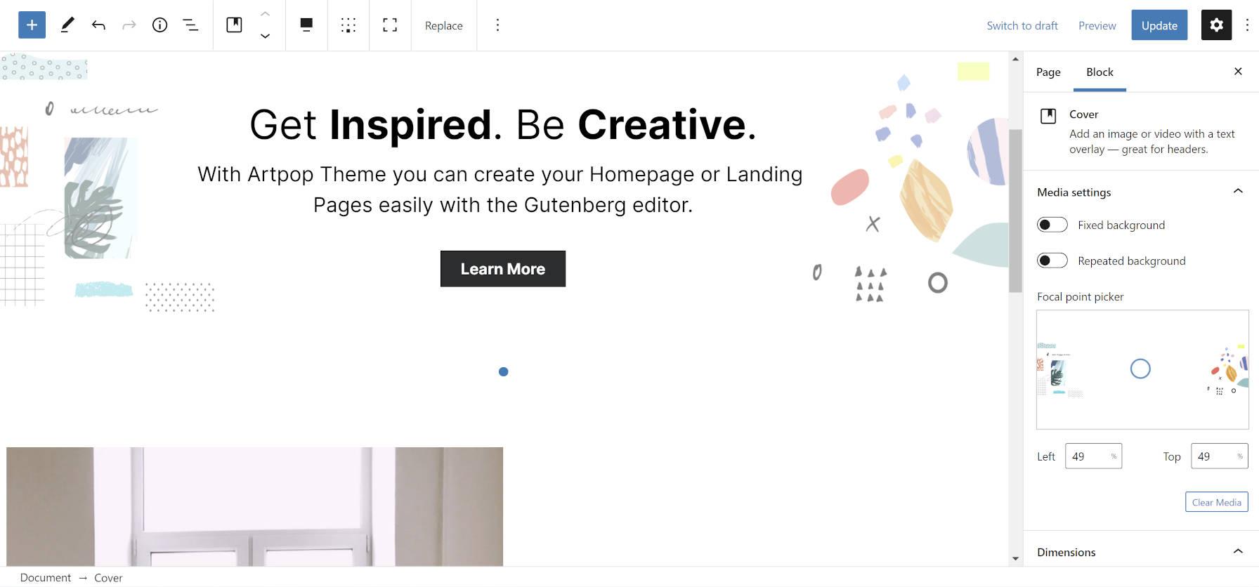 design-lab-releases-artpop-a-block-ready-wordpress-theme-1设计实验室发布Artpop,这是一个Block-ready WordPress主题
