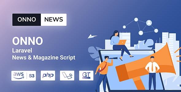 ONNO v1.1.0 – Laravel新闻杂志脚本
