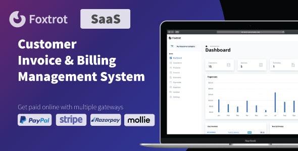 Foxtrot SaaS v1.0.4 –客户,发票和费用管理系统