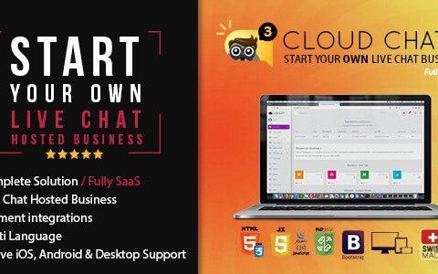 全面的SaaS Live支持聊天– Cloud Chat 3 v2.5
