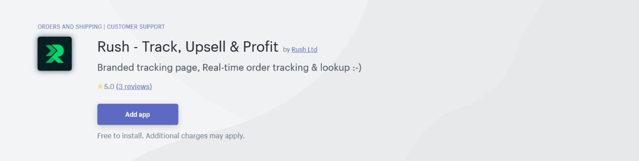 Rush是最好的Shopify产品推荐应用程序之一