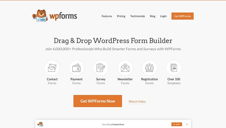 WPForms网站