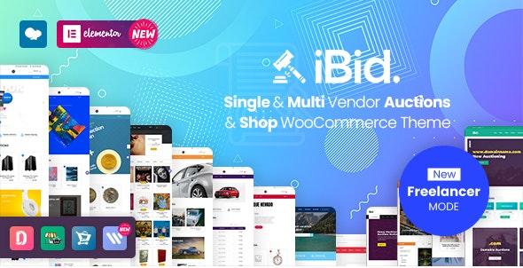 iBid v2.9 –多供应商拍卖WooCommerce主题