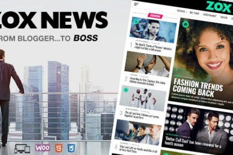 Zox News v3.11.0 – 专业的 WordPress 新闻杂志主题