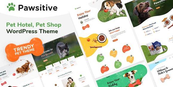 Pawsitive-宠物护理和宠物店WordPress主题