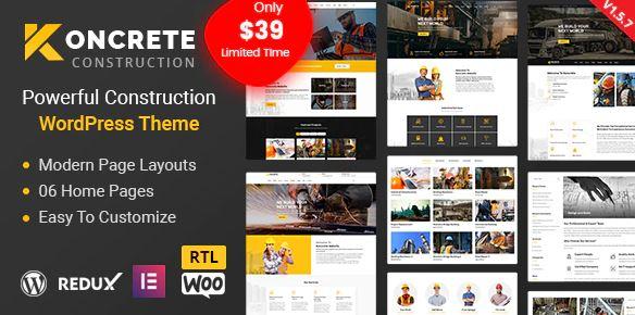 Koncrete-建设建筑WordPress主题