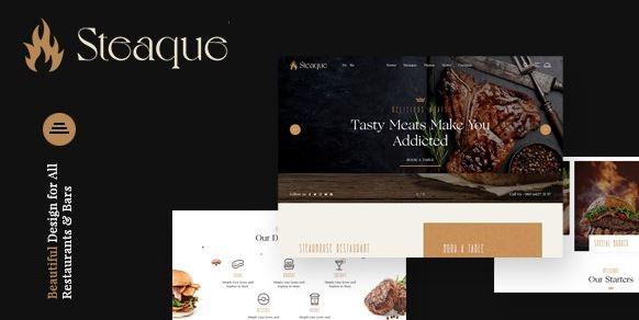 立式| 餐厅和鸡尾酒吧WordPress主题