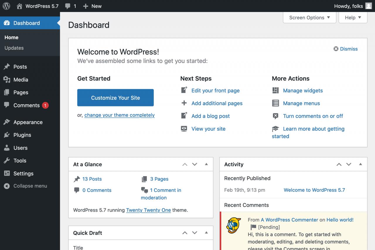 wordpress-5-7引入了拖放功能以简化块和模式,简化了admin的颜色调色板,并实现了从HTTP到https的一键迁移WordPress 5.7引入了Drag-拖放以实现块和图案,简化的管理员调色板以及从HTTP到HTTPS的一键式迁移