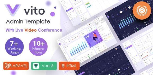 Vito-Vue,Laravel,HTML管理员仪表板模板