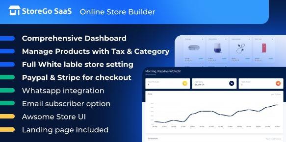StoreGo SaaS-在线商店生成器
