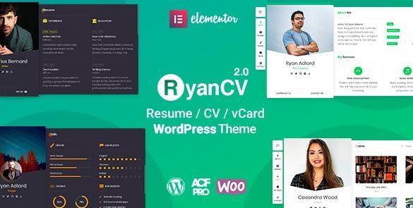 RyanCV-简历/恢复WordPress主题