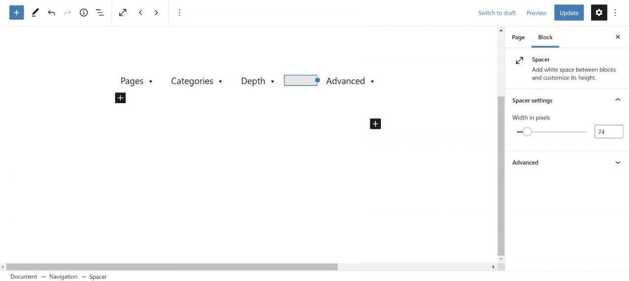 gutenberg-10-2-在导航列表中添加空格,让用户分类模板部分,并引入范围内的样式Gutenberg 10.2将空格添加到导航列表中,让用户对模板零件进行分类,并介绍范围模式