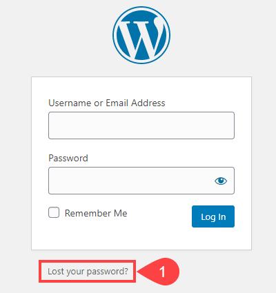 如何在wordpress-3中更改或重置密码如何在WordPress中更改或重置密码