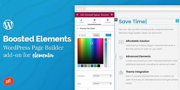 Boosted Elements-Elementor的WordPress页面构建器附加组件