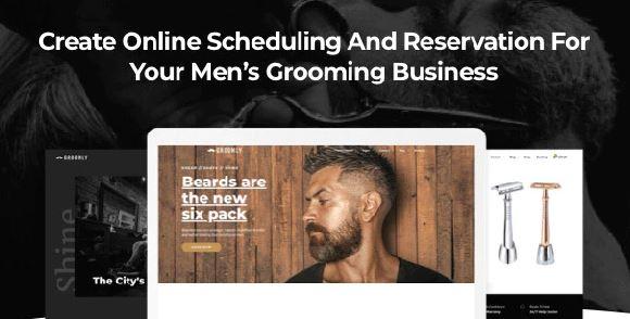 Groomly-男士美容日程安排和预定WordPress主题