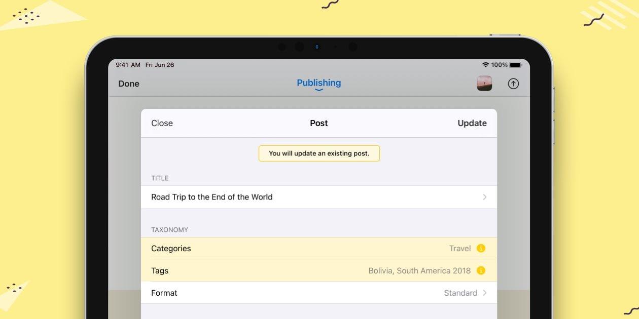 ulysses-22添加WordPress帖子更新Ulysses 22添加WordPress帖子更新