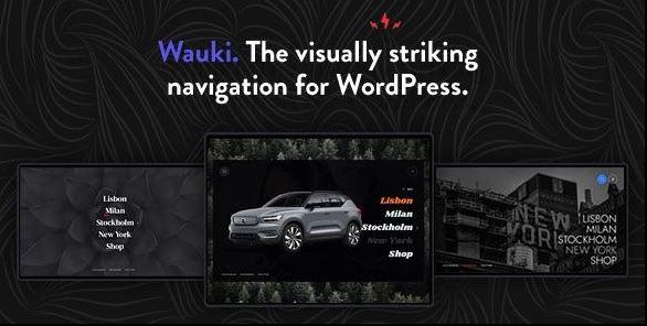 Wauki-全屏WordPress菜单