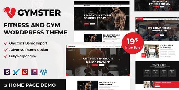 Gymster-健身和健身WordPress主题
