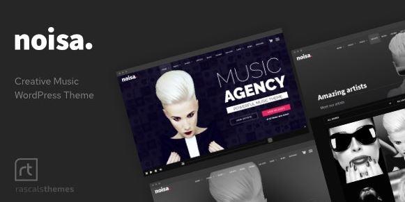 Noisa-WordPress的音乐制作人,乐队和活动主题