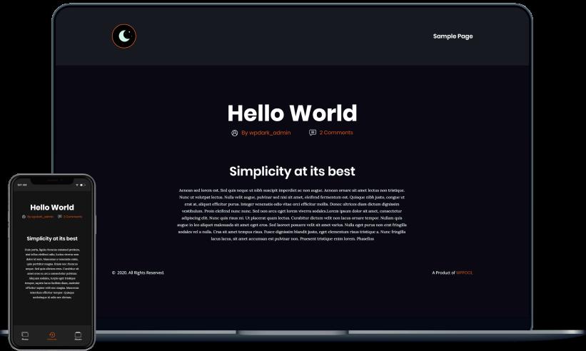 WP Dark Mode Ultimate-最好的WordPress Dark Mode插件