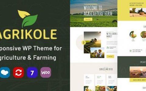 Agrikole v1.7   用于农业和农业的自适应WordPress主题