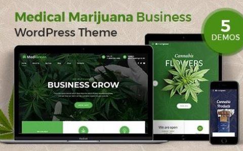 MediGreen v1.1.1 –医用大麻和药房WordPress主题