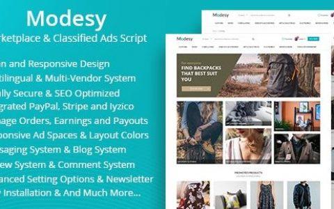 Modesy v1.8 –市场和分类广告脚本