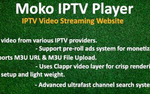 Moko IPTV Player v1.0 – IPTV视频流网站