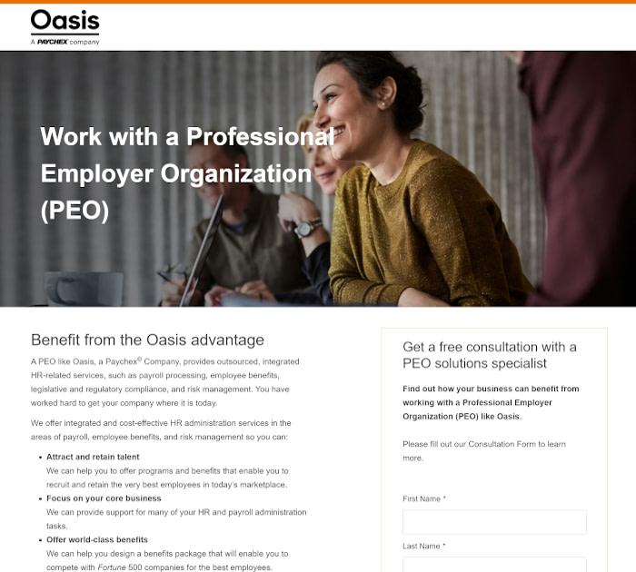 最佳PEO提供商:Oasis