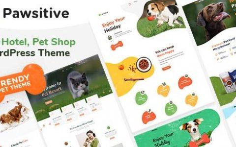 Pawsitive v1.1.0 –宠物护理和宠物店WordPress主题