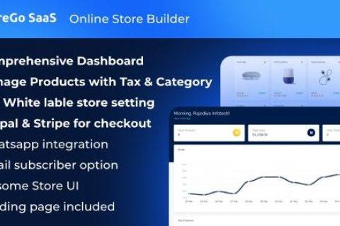 StoreGo SaaS –在线商店生成器v1.1