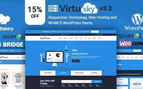 VirtuSky v3.2 | 响应式虚拟主机和WHMCS WordPress主题