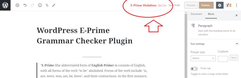 E-Prime语法检查器,由metapult提供